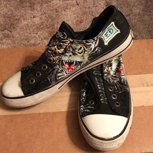 f4b85a811574 Ed Hardy Shoes - Womens Ed Hardy converse style shoes size 8